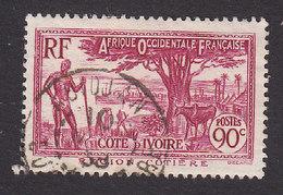 Ivory Coast, Scott #134, Used, Scenes Of Ivory Coast, Issued 1936 - Ivory Coast (1892-1944)