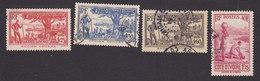 Ivory Coast, Scott #139, 141, 142-143, Used, Scenes Of Ivory Coast, Issued 1936 - Ivory Coast (1892-1944)