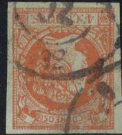 Spain - Rueda De Carrera 32 - Lerida - Postmark On Isabella 4 C 1860 Cancelled - 1850-68 Royaume: Isabelle II
