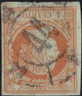 Spain - Rueda De Carrera 44 Segovia - Postmark On Isabella 4 C 1860 Cancelled - 1850-68 Royaume: Isabelle II