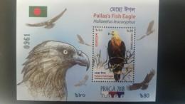 O) 2018 BANGLADESH, PRAGA EXPO 2018-BIRDS OF PREY, HALIAEETUS LEUCORYPHUS -PALLAS'S FISH EAGLE, SOUVENIR MNH - Bangladesh