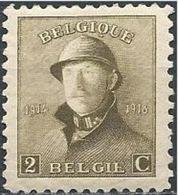 "BELGIQUE BELGIEN BELGIUM 1919  Albert 1er , Série Dite ""Roi Casqué"" Format 18*21 2c YV 166 MI 146 SC 125 SG 238 - 1919-1920 Behelmter König"