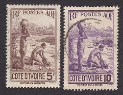 Ivory Coast, Scott #149-150, Used, Scenes Of Ivory Coast, Issued 1936 - Ivory Coast (1892-1944)