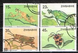ZIMBABWE /Oblitérés/Used/1988 - Insectes - Zimbabwe (1980-...)