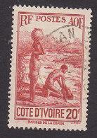 Ivory Coast, Scott #151, Used, Scenes Of Ivory Coast, Issued 1936 - Côte-d'Ivoire (1892-1944)