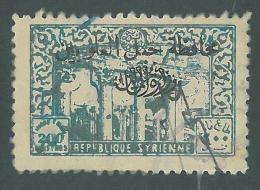 AS - Syria ALAOUITES 1940s Fiscal Revenue 200pi Blue - Optd Mohafaza / Djebel Alaouites / Ministry Of Finance Oval Black - Syrië