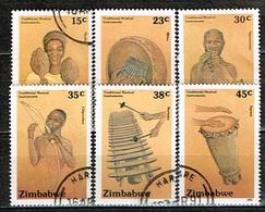 ZIMBABWE /Oblitérés/Used/1991 - Instruments De Musique Traditionnels - Zimbabwe (1980-...)