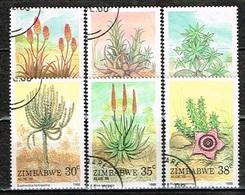 ZIMBABWE /Oblitérés/Used/1988 - Variétés D'Aloés Et D'Euphorbes - Zimbabwe (1980-...)