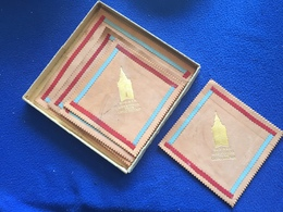 """Souvenir """"Big Ben Greetings From London"""" Leather Coasters 5.25"""" Inches Square, - Other Collections"""