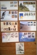 Lot De 9 Enveloppes Et Timbres NEW ZEALAND / Nouvelle Zélande - Non Classés