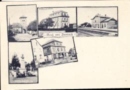 67 DAMBACH / 5 VUES / PORTE BASSE / RESTAU. DE LA GARE/GARE /HALLE AU MARCHE / MONUMENT A.BRAUN - Dambach-la-ville