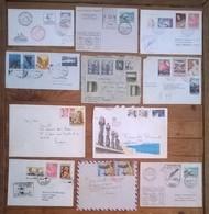 Lot De 11 Enveloppes Et Timbres CHILE / Chili - Chili
