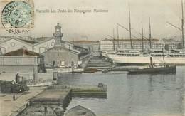 """CPA FRANCE 13 """"Marseille, Les Docks Des Messageries Maritimes"""" - Autres"""