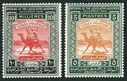 Sudan 96-97,lightly Hinged.Michel 121-122. Legislative Assembly 1948.Camel. - Stamps