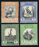 Sudan 98-101,MNH-.Mi 131-134. Nubian Ibex,Shoebill,Giraffe,Baggara Girl On Cow. - Giraffes