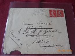 Lettre Avec No 135 Et 138 (les 2 Types) - Marcophilie (Lettres)