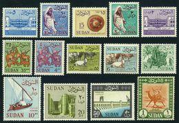 Sudan 146-159,lightly Hinged.Michel 179-192. Views,Animals,Palms,Sailboat,Temple - Sudan (1954-...)