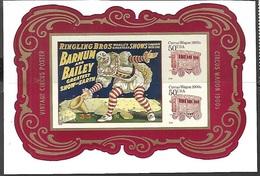US  2014   $1 Ringling Bros/50c Circus Wagons Souv Sheet Of 4  MNH - United States
