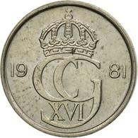Monnaie, Suède, Carl XVI Gustaf, 10 Öre, 1981, TTB, Copper-nickel, KM:850 - Suède
