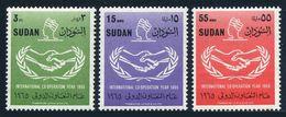 Sudan 182-184,MNH.Michel 215-217. International Cooperation Year ICY-1965. - UNO