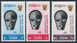 Sudan 233-235,MNH.Michel 268-270. ILO,50th Ann.1969.Emblem. - ILO