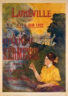 France Exposition Postcard Lunéville Grande Kermesse 1922 - Reproduction - Advertising