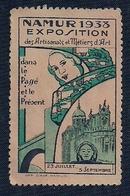 BELGIQUE - VIGNETTE - NAMUR - EXPOSITION DES ARTISANS ET MÉTERS D'ARTS (1933) - Belgique