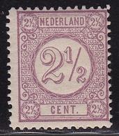 1876-1894 Drukwerkzegels Cijfertype 2½ Cent Donkerlila Kamtanding 12½ Gr. G. POSTFRIS NVPH 33 Fa - Ongebruikt