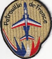 Rare Patch Tissu De Manche Patrouille De France Alpha-jet 10 X 8 Cm - Aviation