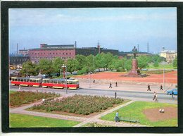 RUSSIA USSR 1988 KALININGRAD Königsberg POSTCARD PLAZ MONUMENTS KALININ - Monumenti