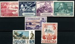 3680-Gibraltar Nº  121/4, 140, 156, 158 - Gibraltar