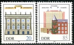 DDR - Mi 2980 / 2981 - ** Postfrisch (A) - 20-85Pf          125 Jahre Humboldt-Universität - [6] Oost-Duitsland