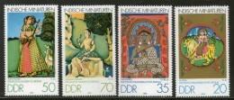 Germany East 1979 Indian Miniatures Painting Hindu Mythology Godess Sc 2005-8 MNH # 2573 - Hinduism