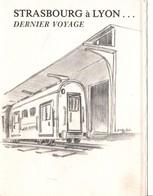 AMBULANT ENCART DERNIER VOYAGE STRASBOURG A LYON 1991 - Marcophilie (Lettres)