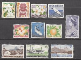 COOK ISLANDS   SCOTT NO. 148-58   MINT HINGED  YEAR 1963 - Cook Islands