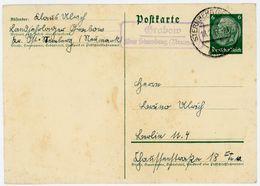 "Landpoststempel ""Grabow über Sternberg (Neumark)"" Postkarte Aus Dem Dortigen KLD-Lager 1941 - Deutschland"