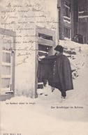 Cpa Le Facteur Dans La Neige  (circulé En 1904 Voir Scan Recto-verso) - Poste & Facteurs