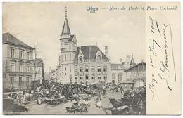 LIEGE : Nouvelle Poste Et Place Cockerill - Très Belle Animation - Luik