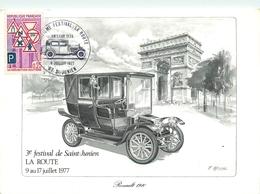 87 - SAINT JUNIEN -TROISIEME FESTIVAL De La ROUTE De SAINT JUNIEN - 1977 - VOITURE RENAULT 1910 - ILLUSTRATEUR; ALMUNI - Saint Junien