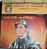 Rare Calendrier Pompiers De Chateau-Gontier 1961 Dessins De Haeck - Calendars