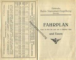 Schweiz - Elektrische Bahn Stansstad-Engelberg - Fahrplan 15. Mai Bis 5. Oktober 1929 - Sommerfahrplan Luftseilbahn Gers - Europa