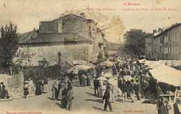 L'ARIEGE  DAUMAZAN L'Avenue Du Pont Un Jour De Foire RV - Autres Communes