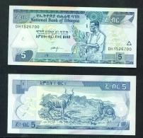 ETHIOPIA  -  2009  5 Birr  UNC Banknote - Ethiopia