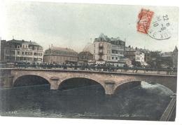 . BELFORT . LE NOUVEAU PONT SUR LA SAVOUREUSE . CARTE COLORISEE AFFR LE 30-8-1910 SUR RECTO - Belfort - City
