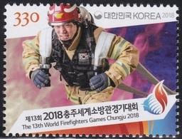 South Korea 2018 The 13th Firefighter Games Chungju, Fireman, Fire Brigade, Pompiers, Pompier - Bombero