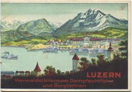Schweiz - Luzern - Vierwaldstättersee Dampfschiffahrt Und Bergbahnen - Fahrplan Vom 15. Mai Bis 30. September 1926 - 24 - Europa