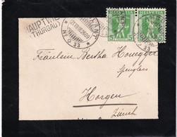SUISSE 1908 LETTRE AVEC CACHET AMBULANT ET CACHET LINEAIRE DE HAUPTWIL - Svizzera