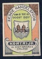 BELGIE - 6e HANDELSFOOR - KORTRIJK - IN SINT AMANDS COLLEGE (1937) - Belgique
