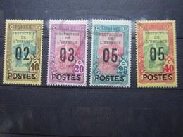 VEND BEAUX TIMBRES DE TUNISIE N° 111 - 114 , X !!! - Tunisie (1888-1955)