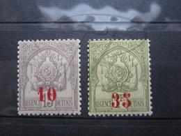 VEND BEAUX TIMBRES DE TUNISIE N° 42 +43 , X !!! - Tunisie (1888-1955)